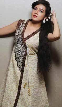 Indian Beautiful Cream Cotton Kurti Best For Online Shopping