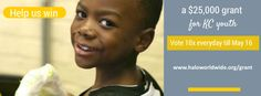 Vote for HALO to receive a $25,000 grant from #StateFarm Competition ends on May 17!  www.haloworldwide.org/grant
