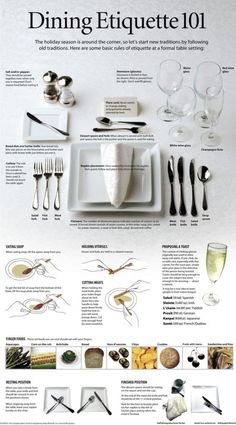 Memorable Prom Tips-Memorable Prom Tips Etiquette 101 for fancy dinner tables and tablescapes. Memorable Prom Tips – etiquette, manners, style, dinner and more - Dinning Etiquette, Table Setting Etiquette, Table Settings, Etiquette Dinner, Setting Table, Place Settings, Table Presentation, Cena Formal, Prom Tips