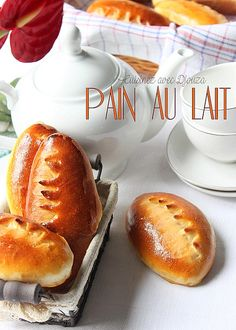 Petit pain au lait très moelleux Croissants, Breakfast Recipes, Snack Recipes, Snacks, Cooking Chef, Bread And Pastries, French Food, How To Make Bread, Desert Recipes