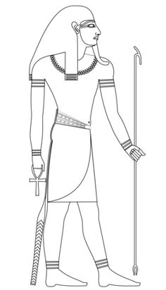 Printable coloring pages Egyptian