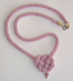 Celtic Heart Knot: free pattern My granddaughter could do this with her spool knitting (I forget what it's called)!