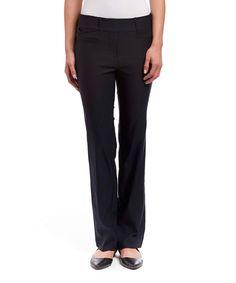 Navy Bootcut Stretch Pants