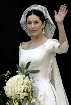 Australia's own: Mary Donaldson, now Crown Princess Mary of Denmark on her wedding day.