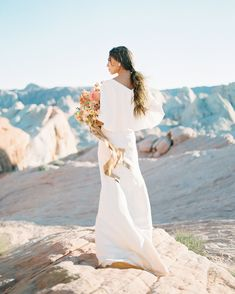 20 Wedding Dresses Perfect for Destination Nuptials - Top Wedding Dresses, White Wedding Bouquets, Colored Wedding Dresses, Wedding Gowns, Sarah Seven, Romantic Look, Allure Bridal, Martha Stewart Weddings, Bride Look