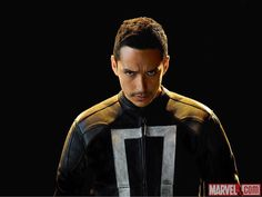 Vengeance comes to Agents of SHIELD this Tuesday, and ahead of the fourth season premiere, Marvel has released Agents of SHIELD Season 4 portraits. Ghost Rider Actor, Ghost Rider Movie, New Ghost Rider, Ghost Rider Marvel, Shield Season 4, Agents Of Shield Seasons, Marvels Agents Of Shield, Marvel Comic Character, Marvel Movies