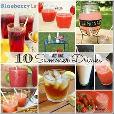10 Must Have Summer Drinks