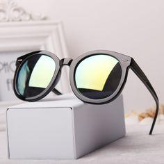 Grátis frete nova marca KW rebite gato olho quadro 10 cores lente reflexiva rodada Sunglasses mulheres homens Unisex Vintage UV400 óculos em Óculos Escuros de Roupas e Acessórios Femininos no AliExpress.com | Alibaba Group