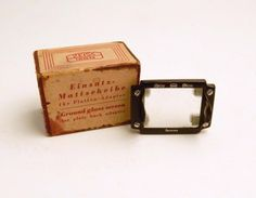 Vintage Zeiss Ikon Ground Glass Screen for Plate Back Adapter 540/11 Germany #ZeissIkon