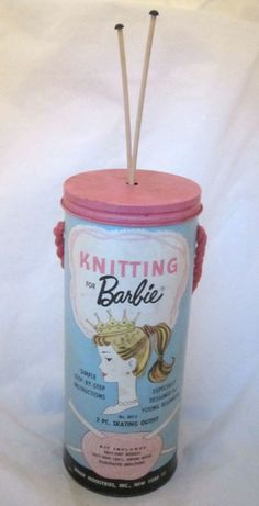 """Rare Vintage 1962 Mattel """"Knitting For Barbie"""" by Miner Industries, NY"""