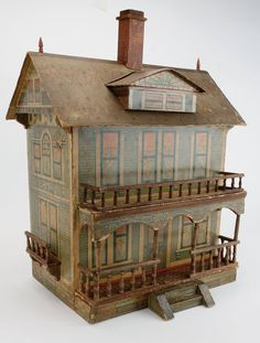 A Large Unmarked Bliss House : Lot 38  .....Rick Maccione-Dollhouse Builder www.dollhousemansions.com