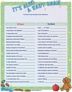 Everyone loves a bouncing baby, but not everyone loves run-of-the-mill baby shower games. Here are the top 20 fun baby shower game ideas-from Beau-coup to you! Shower Bebe, Baby Shower Fun, Baby Shower Gender Reveal, Baby Shower Parties, Baby Boy Shower, Baby Showers, Diaper Shower, Baby Name Game, Baby Names