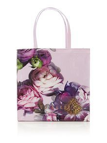 Suncon pink floral large tote bag