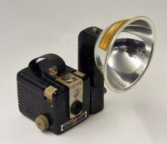 Kodak Hawkeye Brownie camera. I had one of these. I REMEMBER buying the flash bulbs and fil rolls.