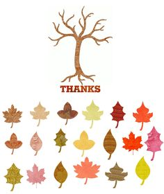27 Free Thanksgiving Printables. Free Thanksgiving tree and leaves. Write what you're thankful for and attach to tree! Cute family tradition! #free #thanksgiving #printables #tree