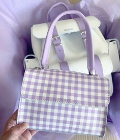 Aesthetic Bags, Violet Aesthetic, Lavender Aesthetic, Aesthetic Colors, Aesthetic Style, Trendy Purses, Cute Purses, Lila Outfits, Purple Themes