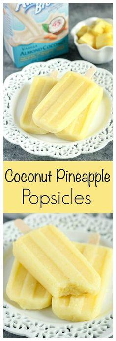 Coconut Pineapple Popsicles