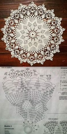 Free Crochet Doily Patterns, Crochet Doily Diagram, Crochet Circles, Crochet Motif, Crochet Designs, Crochet Round, Crochet Coaster, Diy Crafts Crochet, Crochet Home