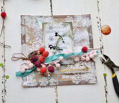 Scrapvell - материалы для творчества: Мастер-класс: новогодняя открытка