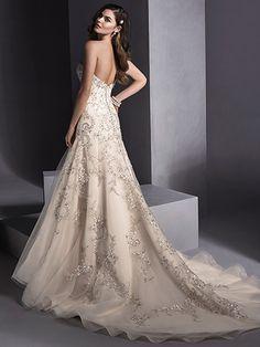 Zariah Wedding Dress by Maggie Sottero | back