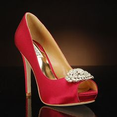 badgley mischka goodie-cranberry cranberry  Wedding Shoes