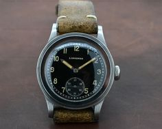 European Watch Company: Longines Rare Vintage TRE TACCHE Black Luminous Dial