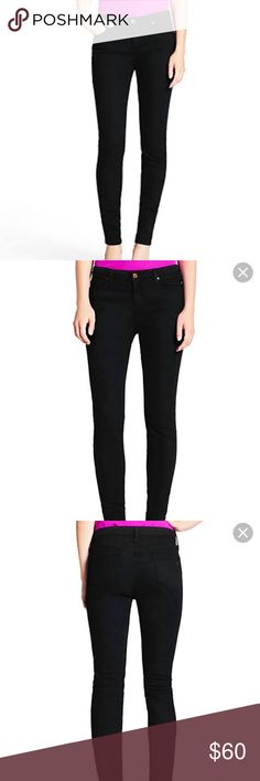 """Kate Spade Perry Street black jeans size 24 Kate Spade New York Perry Street """"Play Hooky"""" black jeans with pink stitching and gold spade logo, size 24. Super cute jeans!!! kate spade Pants"""