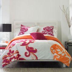 1000 images about bed room on pinterest pink bedding - Red and orange comforter sets ...