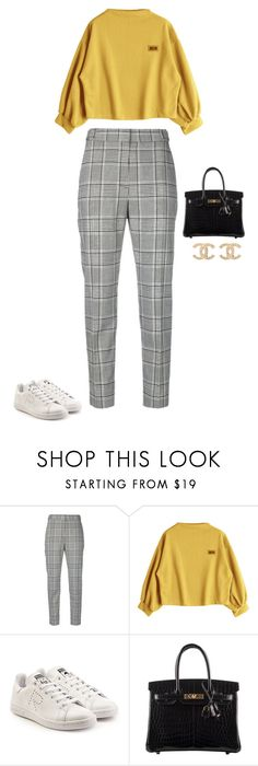 """Untitled #2055"" by quaybrooks on Polyvore featuring Alexander Wang, adidas, Hermès and Chanel"