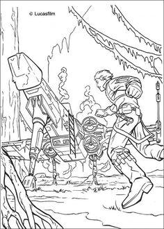 luke spaceship on dagobah coloring page more star wars content on hellokidscom