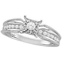 The promise ring I had before I got an upgrade! Diamond and Sterling Silver Promise Ring.