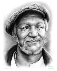 Cool artwork drawing of Sanford and Son Fred Sanford - Redd Foxx Redd Foxx, Sanford And Son, Black Art Pictures, Black Love Art, By Any Means Necessary, Celebrity Drawings, Black Artwork, Afro Art, African American Art