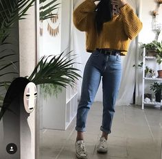 I've been wearing a lot of mustard lately 🤭 Grunge Outfits, Trendy Outfits, Plus Size Outfits, Fall Outfits, Cute Outfits, Fashion Outfits, Teenage Outfits, College Outfits, Moda Vintage