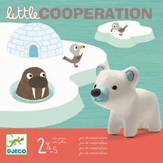 Djeco: gra arktyczna przygoda Little Cooperation Teaching Kids, Kids Learning, Sweet Games, Wooden Educational Toys, Polar Animals, Cooperative Games, Dog Games, Games For Toddlers, Kawaii