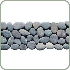 Smokey Black Pebble Tile Border $5.50/pc.
