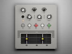 Custom MIDI Controller (Ortho) by Jure Verč on Dribbble Studio, Projects, Log Projects, Blue Prints, Studios