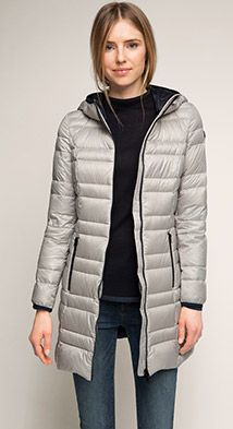Esprit / light down coat with a hood