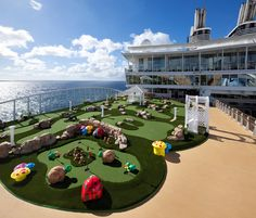 Practice your putt on Allure of the Seas.