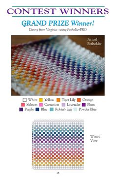 Our first collection of new exciting designs with detailed instructions on how to weave them. You will discover that there are unlimited design possibilities with our simple potholder looms.