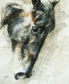 """Saatchi Online Artist: Benedicte Gele; Pastel, Drawing """"Tête V"""""""