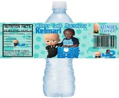 Personalized BOSS BABY Printable Water Bottle Labels, Boss Baby Water Labels, DIY water bottle labels, Digital Boss Baby Labels, Boss Baby