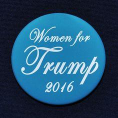 Donald Trump Women for Trump President 2016 Button Pin Republican GOP Turquoise