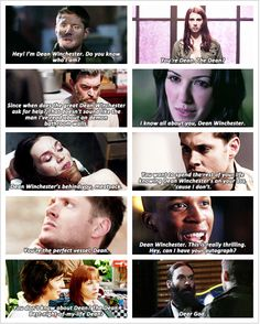 Dean Winchester has a reputation GIFset....Now what is it gonna be? He's now the perfect vessel for himself. YIKES!