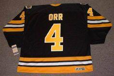 6d471ad77  BOBBY ORR Boston Bruins 1975 CCM Vintage Throwback NHL Hockey Jersey