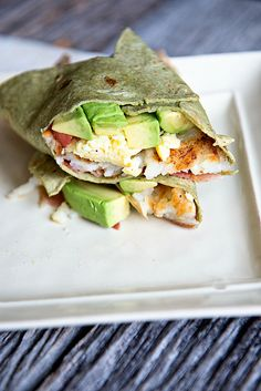 Hash Brown Avocado Breakfast Wrap ~ A tasty breakfast wrap featuring California Avocado slices and a hash brown patty from dineanddish.net