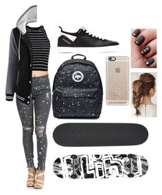 """#SASS (slay at school series) the boarder girl, comment if y'all wanna boy outfit."" by mammiilonaaa ❤ liked on Polyvore featuring Hogan Rebel, Casetify and Blind"