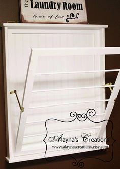 Wall+Mounted+Laundry+Drying+Rack+by+AlaynasCreations+on+Etsy,+$130.00. USA