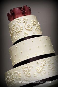Design on cake..