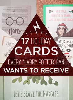 """17 Holiday Cards Every """"Harry Potter"""" Fan Needs"""