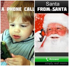 Phone call from Santa-there's a FREE app for that!